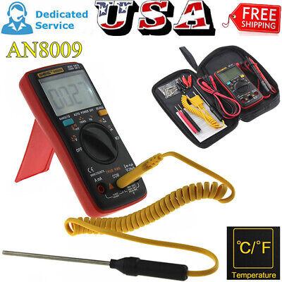 Aneng An8009 Digital Clamp Meter Multimeter Handheld Rms Acdc Resistance Ammete