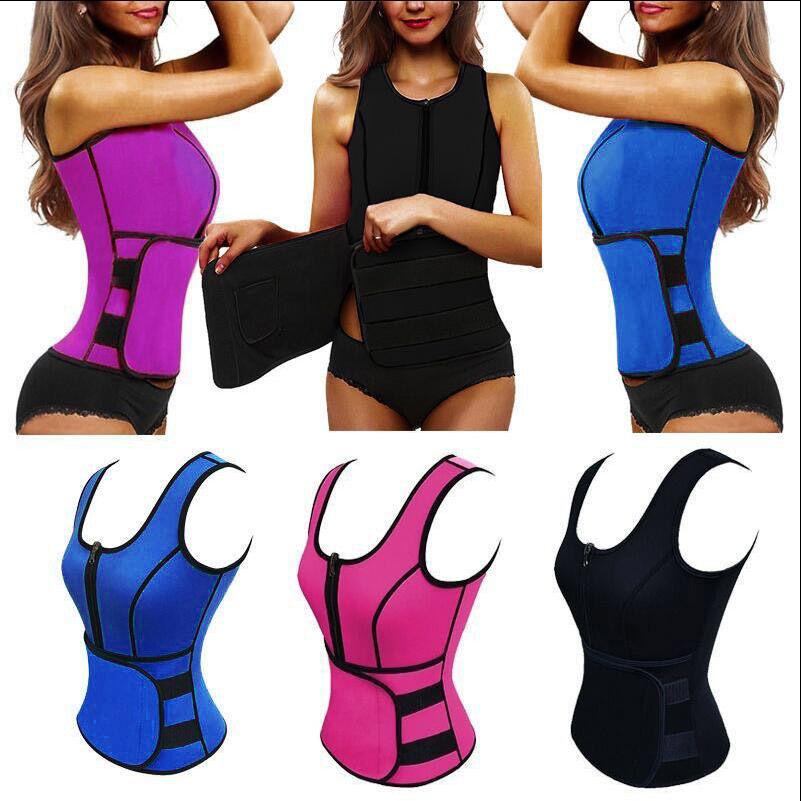 Women Hot Thermo Sweat Trainer Vest Shaper Slimming Waist Adjustable Belt Corset