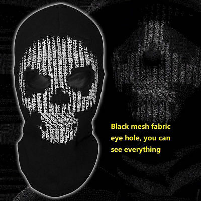 Watch Dogs 2 Hacker Ghost Face Skull Mask Bike skateboard Hood Costume - Skateboard Halloween Costumes