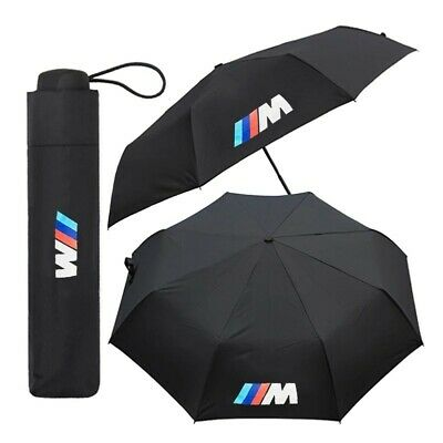 1X Fully-automatic umbrella in black with BMW M-Sport logo.