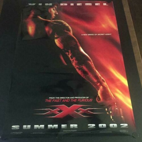 VERY RARE Original Advance XXX Vin Diesel Poster Double Sided Never Displayed