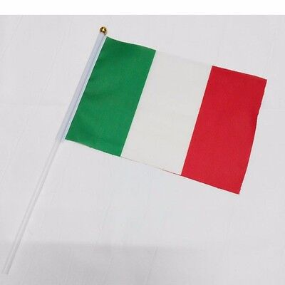 Small Country Flags (Italy HELD STICK Small FLAGS Hand Table Flag Festivals country Italian)