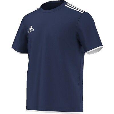 adidas Core11 Tee Youth T-Shirt Trainingsshirt Kinder blau Baumwollmischgewebe