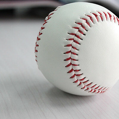 "9"" Soft Leather Sport Practice & Trainning Base Ball BaseBall Softball New `iUO"