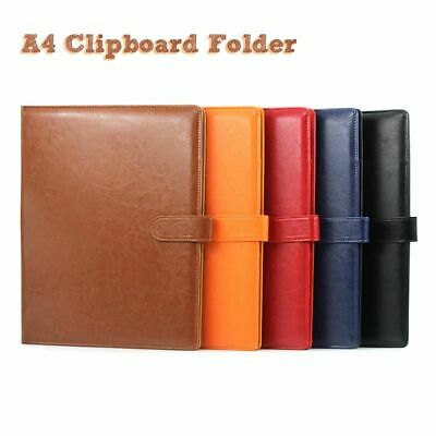 A4 Clipboard Folder Portfolio Multifunction Leather Manager Clip Writing Pads