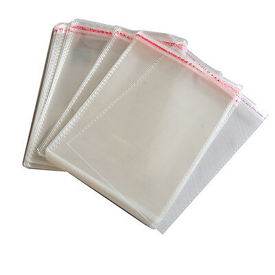 100 x New Resealable Clear Plastic Storage Sleeves For Regular CD Cases JX