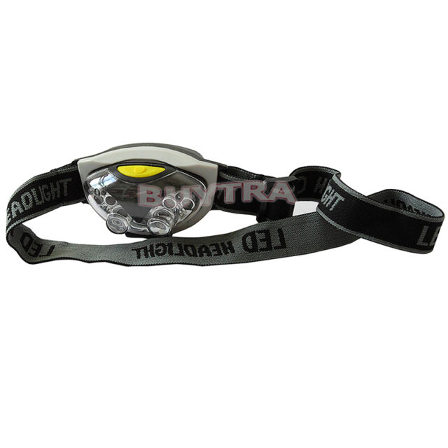 200m LED Head Lamp Economic Good Torch Light Hands FlashLight with HeadBand FT