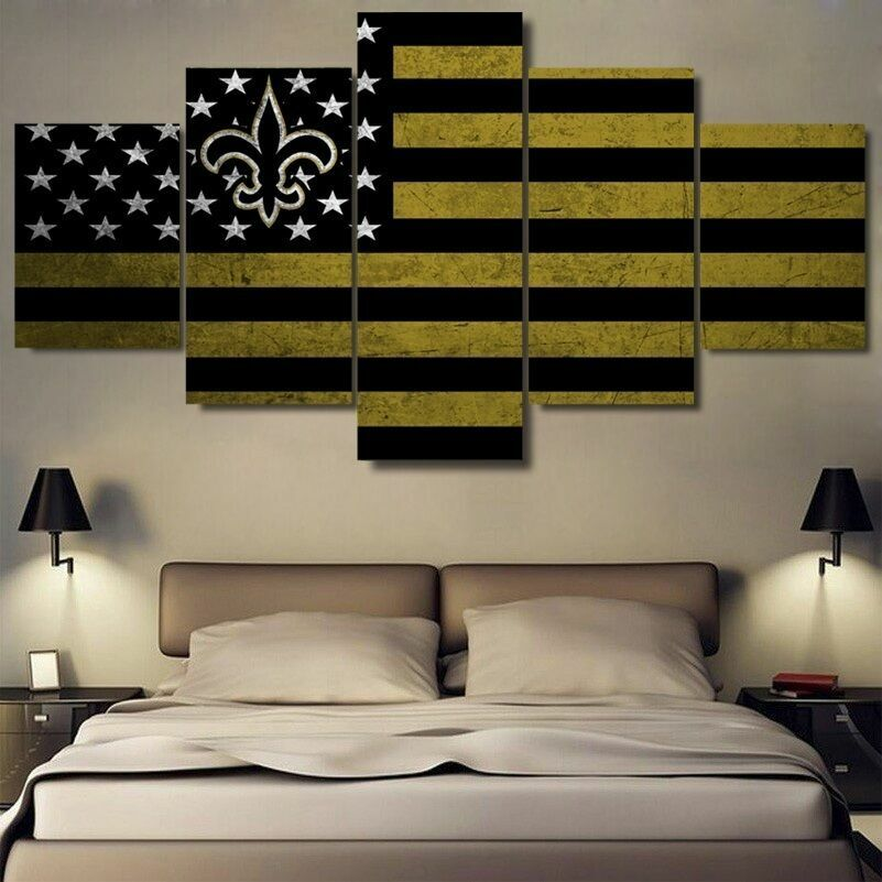 American Flag Five Piece Framed Canvas