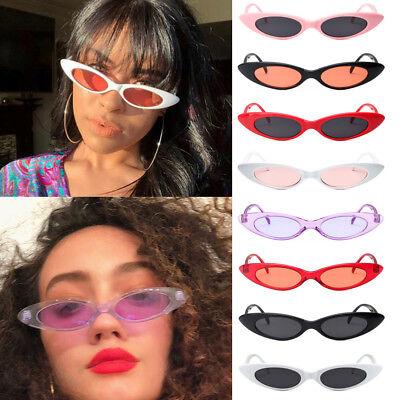 VINTAGE RETRO SMALL OVAL FRAME SUNGLASSES WOMEN'S SHADES TRENDY TINY (Trendy Glasses)
