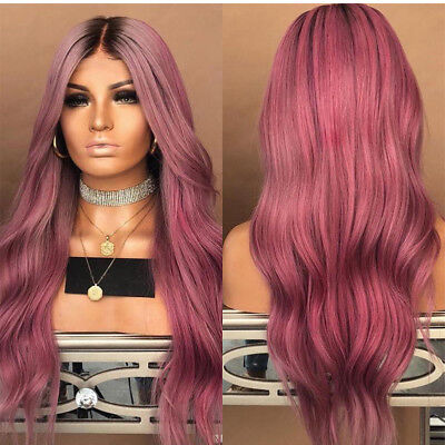 Best Synthetic Ombre Hair Sexy Wig Long Wavy Curly Full Wigs +Cap For Women