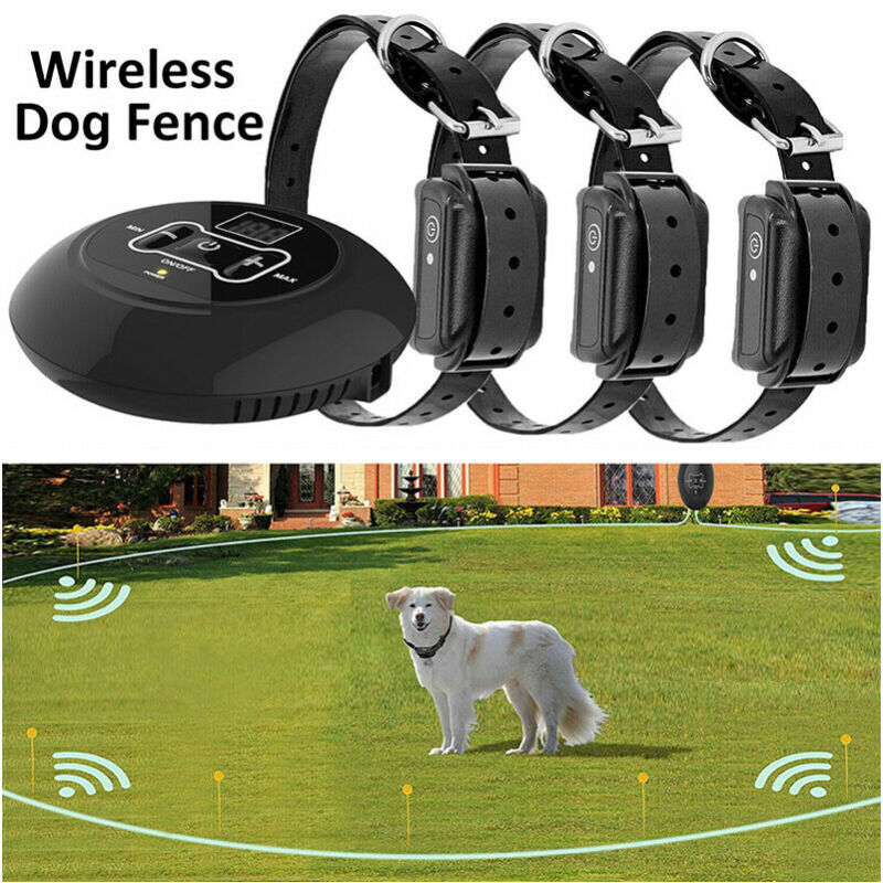 Wireless Electric Dog Fence Pet Containment System Shock Collar For 1/2/3/4 Dogs
