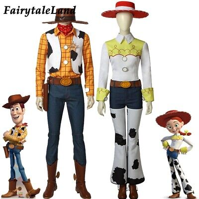 Toy Story Cosplay Costume Cowboy Woody outfit Cowgirl Jessie Cosplay Prop Suit - Jessie Woody Costumes
