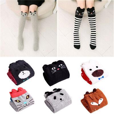 38cm Cotton Cartoon Fox Cat Animal Knee High Socks Kids Baby Girls Sock Leggings](Cat Knee High Socks)