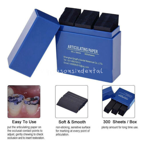 300 Sheets Dental Clinic Regulate Teeth Occlusion Articulating Paper Blue Strips
