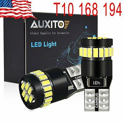 AUXITO T10 LED License Plate Light Bulbs CAN-BUS Bright White 168 2825 194 -