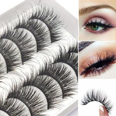 Cheap Natural 10 Pairs 100% Real Mink Hair Thick False Eyelashes Strip Lashes /M](Cheap Eyelashes)