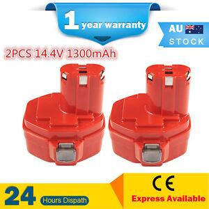 2PCS 14.4V 1.3Ah Battery for MAKITA PA14 Combi Drill Driver Cordless 14.4Volts
