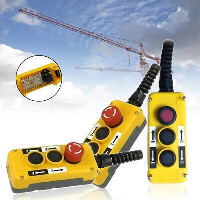 Push Button Switch Emergency Stop For Crane Hoist Pendant Control Station Us