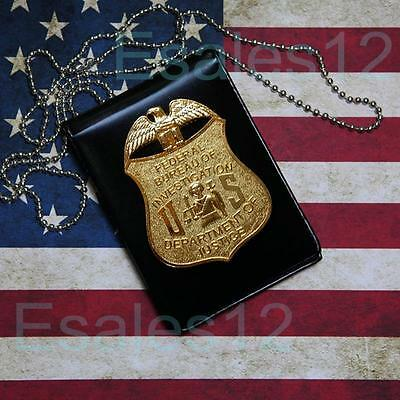 USA FBI Dept Officer Special Agent Badge Card ID Cards Holder Collection