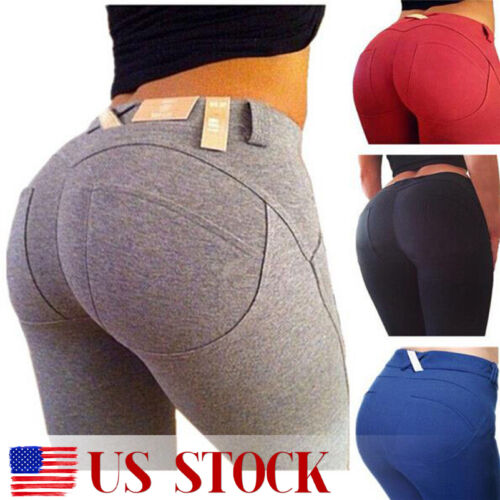 $10.92 - Women High Waisted Slim Skinny Leggings Stretchy Pants Jeggings Pencil Pants US