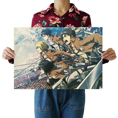 Vintage ONE PIECE Chinchilla lanigera DRAGON BALL Attack on Titan Anime Poster