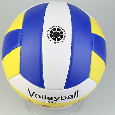 Hot Good Student Volleyball Faux Leather Match Training Ball CLickened Size5 IE