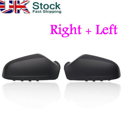 Pair Left  Right Side Wing Door Mirror Cover For VAUXHALL ASTRA H MK5 2004 2009