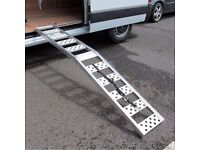 Motorcycle Motorbike Folding Aluminium Van Truck Car Trailer Loading Ramp for quads atv lawnmowers