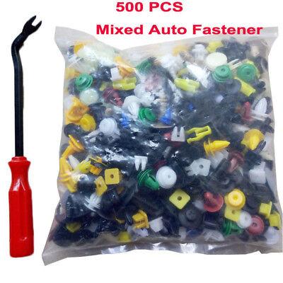 (500pcs/Set Car Body Plastic Push Pin Rivet Retainer Fastener Trim Bumper Clip)