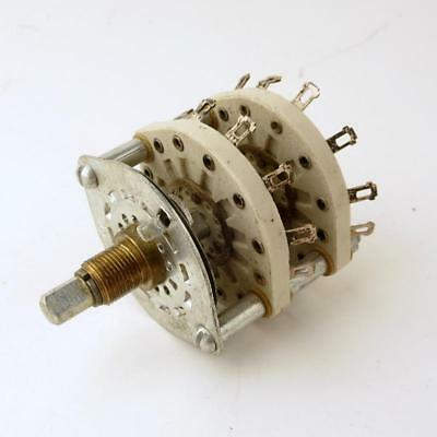 11 Position 2 Pole Ceramic Rotary Switch - Shorting - Make Before Break