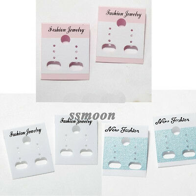 Wholesale 100Pcs Plastic Earring Display Cards Blue/White/Pink 3.5x3cm advantage