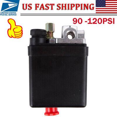 Uniporous 1 Port 90-120psi Air Compressor Pressure Switch Control Valve 110-240v