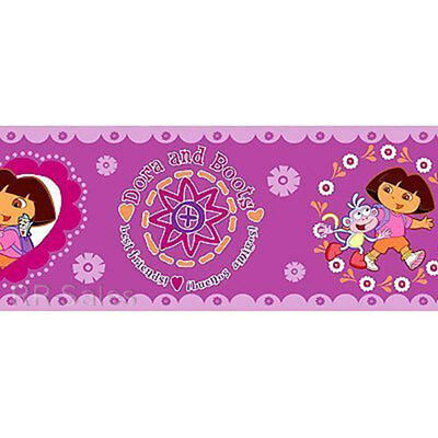 Dora the Explorer Best Friends Girls Pink Purple Flowers Walls WallPaper