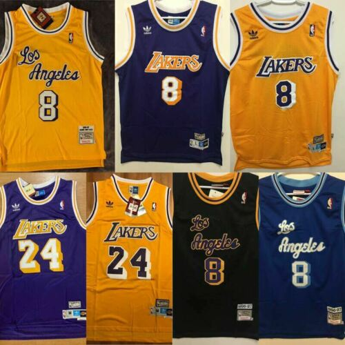 Los Angeles Lakers # 8 Jersey Classic Mesh Breathable Commemorative Sports Vest top Sleeveless T-Shirt Shorts Basketball Sets Equipment(L-5XL) Mens Basketball Jersey,Kobe Bryant