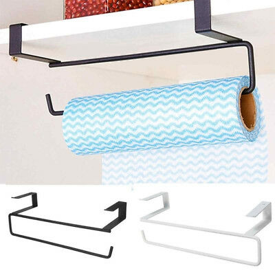 Kitchen Under Cabinet Door Drawer Roll Paper Towel Tissue Rack Cupboard Holder Y