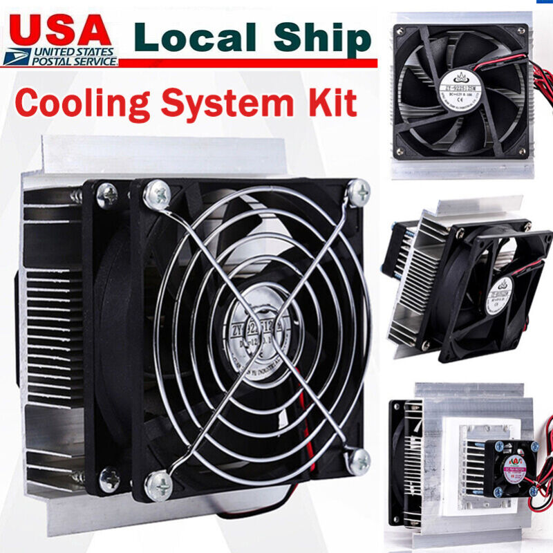 12V 6A Thermoelectric Peltier Refrigeration Cooling Cooler Fan System Heatsink