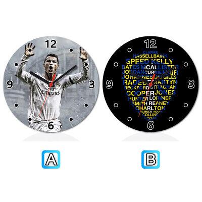 Cristiano Ronaldo Soccer Best Players Wooden Wall Clock Modern Home Office