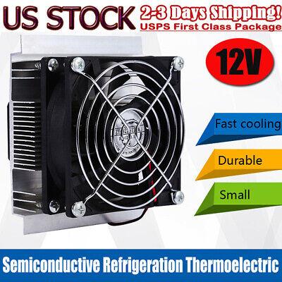 Dc 12v Thermoelectric Peltier Refrigeration Cooling System Kit Cooler Fan Us