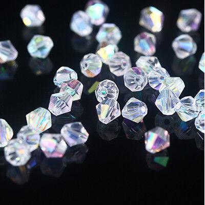 Ab 5301 Bicone Beads - New Fashion DIY jewelry 3mm/4mm Glass Crystal AB #5301 Bicone beads 200/1000pcs