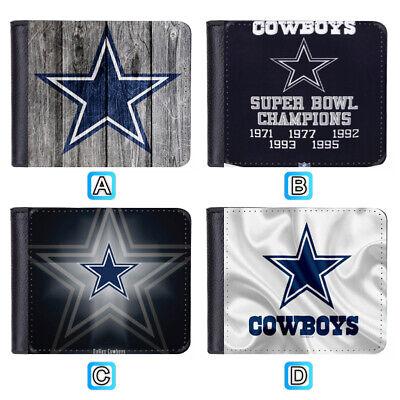 Dallas Cowboys Leather Men Wallet Bifold ID Credit Card (Dallas Cowboys Credit Card)