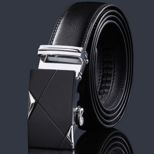 $11.26 - Luxury Men's Genuine Leather Automatic Buckle Belts Waist Strap Belt Waistband