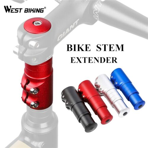 Bicycle Fork Stem Extender MTB Bike Handlebar Riser Cycle Head Up Alloy Adapter