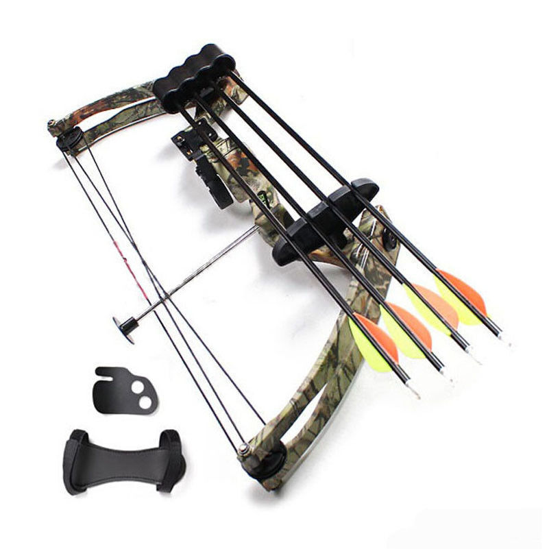 20lbs Right Hand Compound Bow Camo For Archery Hunting Fishi