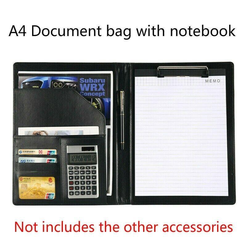 A4 Document Bag File Folder Clip Board Conference Notebook B
