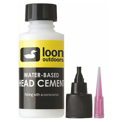 Head Cement System (LOON OUTDOORS WATER-BASED HEAD CEMENT SYSTEM - Fly Tying Thin Head Cement NEW!)