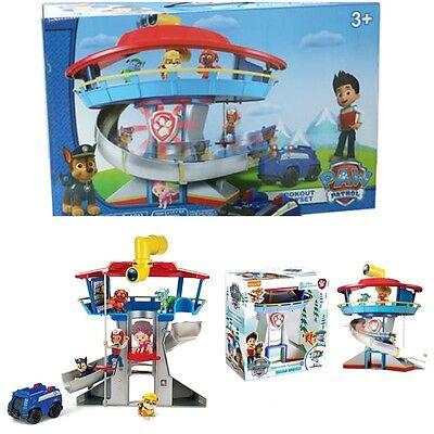 Paw Patrol Lookout Play Set Parking Lot Kids Vehicle Figures Toy Watch Towel Car