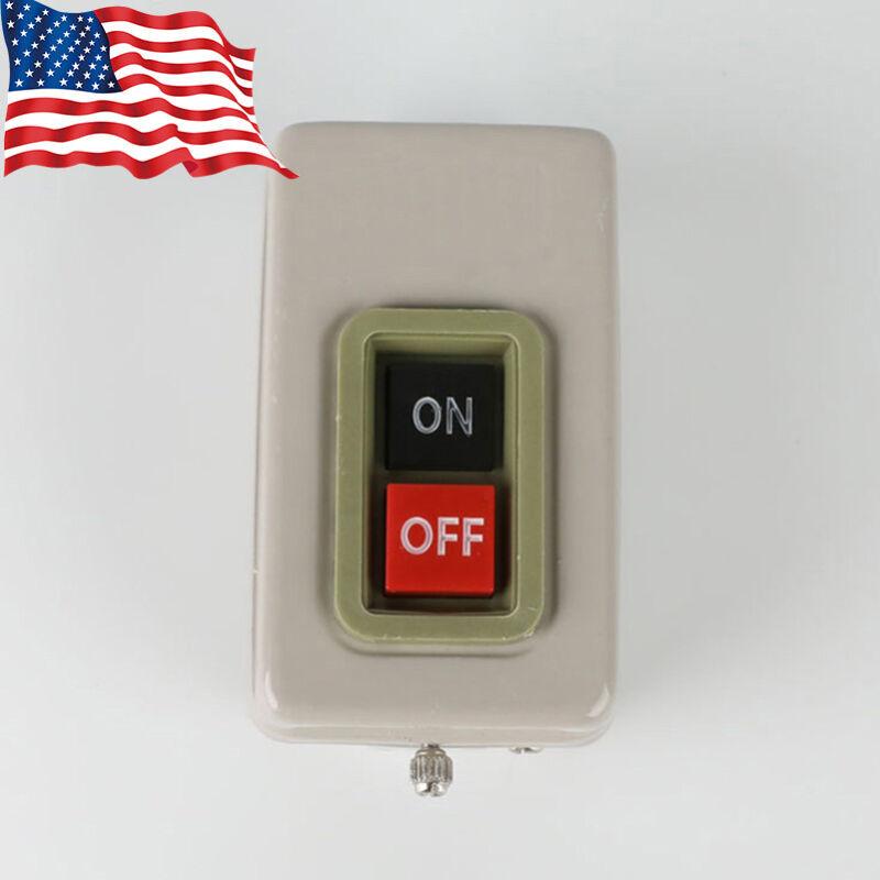 Bench Tool Drill Press Switch Push Button Isolator Metal Starter Motor BS230B US