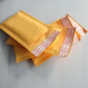 10X New Bubble Bag Padded Envelopes Mailers Shipping Yellow Post Data Intact ZU