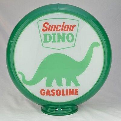 "Sinclair Dino On Land 13.5/"" Gas Pump Globe w// Red Plastic Body G184"