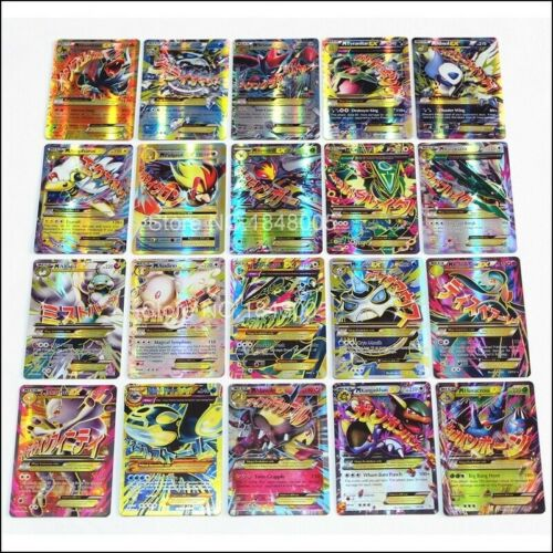 Pokemon 100 Card Lot - Rare, Com/unc, Holo + 2x Guaranteed Ex, Gx, Mega, Hyper!